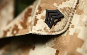 second term marines see bump re up cash corps fights keep ncos uniform three stripes up crossed rifles in center sergeants keep corps tough