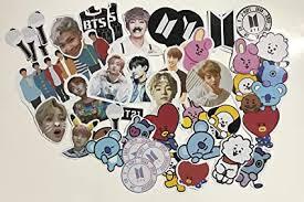 Buy BTS Stickers Version 1: <b>BT21 BTS</b> Logo Stickers BTS Light Stick ...