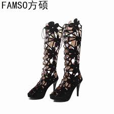 <b>FAMSO</b> 2019 <b>New</b> Fashion <b>Women Boots</b> Black White Summer ...