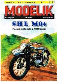 <b>Бумажная модель</b> мотоцикла SHL M04 | <b>Бумажные модели</b> ...