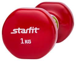 Купить <b>Гантель</b> цельнолитая <b>Starfit DB</b>-<b>101</b> 1 кг по низкой цене с ...