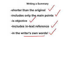 writing a summary writing esl english showme