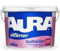 <b>Краска Aura GOLFSTROM</b>, 9л, особопрочная для стен и потолков ...