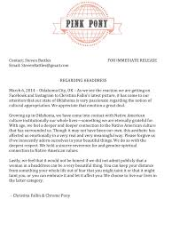 dear christina fallin native appropriations christina fallin letter