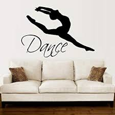 Wall Decals Quotes <b>Dance</b> Quote <b>Dancer</b> Silhouette Gymnastics ...