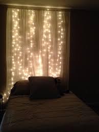 gorgeous diy string light curtain headboard bedroom headboard lighting