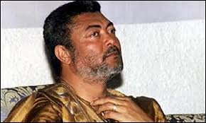 President Jerry John Rawlings. President Rawlings: On his knees begging for votes - _948134_rawlings300bbc
