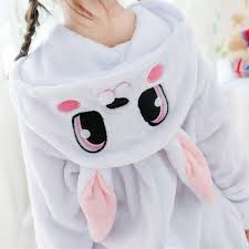 Animal <b>Anime</b> Rabbit Cosplay Costume Pajamas <b>halloween</b> Unisex ...