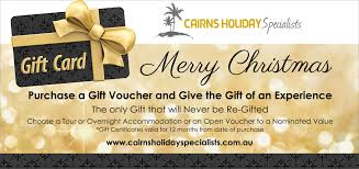 cairns holiday specialists christmas gift vouchers now available dl gift christmas