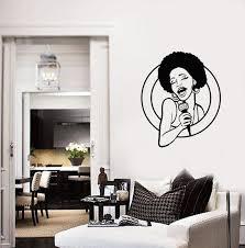 <b>Singer</b> Vinyl Wall Decal Beautiful Black Lady Room Home Decor ...