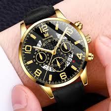 <b>Fashion Men'S Watch</b> Leather Calendar Quartz Watch Casual ...