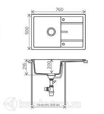 <b>Кухонная мойка Tolero</b> R112 <b>Серый</b> в Краснодаре