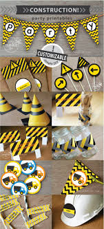 Construction Birthday Party Decorations Construction Party Printables Black Yellow
