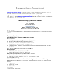 engineer resume format with work history  seangarrette coformat of resumes for freshers   engineer resume format