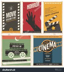 retro cinema posters flyers collection vintage stock vector retro cinema posters and flyers collection vintage movie signs layouts promotional film printing templates