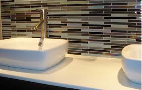 tiling ideas bathroom top:  bathroom ideas triple tone glass bathroom backsplash tile with white rectangle bowl sink and