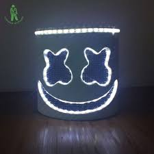 <b>LED</b> Light <b>Marshmello</b> Mask Cosplay <b>DJ</b> Music Masks Disco Bar ...