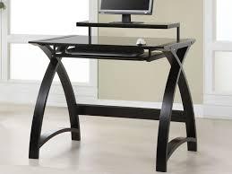 furniture simple black wooden office black desk vintage espresso wooden