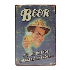 <b>beer tin</b> sign <b>vintage metal</b> plaque poster bar pub home wall decor ...