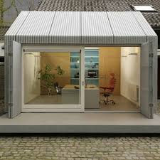 inspiring home office ideas garage turned into delightful small office in netherlands cool small architects sliding door office
