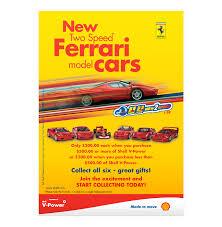 shell peak seven advertising florida ad agency shell ferrari model car promo flyer