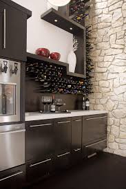 private wine bar and bathroom contemporary wine cellar idea in other with dark hardwood floors and box version modern wine cellar