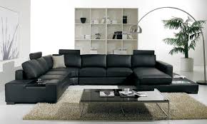 room fabio black modern:  living room howling home decorating ideas then black lear sofa as wells as black lear
