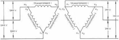 single phase transformers connected in delta elementary diagram of delta delta transformer connections