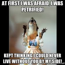 At first I was afraid, I was petrified! kept thinking i could ... via Relatably.com