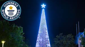 largest display of christmas lights on an artificial tree guinness world records aussie lighting world