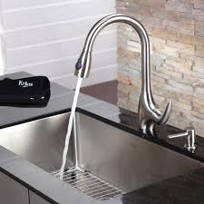 kitchen home depot faucets ideas:  contemporary kitchen kraus kitchen faucet with soap dispenser pull out spray modern kitchen faucets home