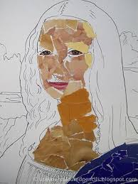 Use Your Coloured Pencils: <b>Mona Lisa Collages</b>   7th grade art, Art ...