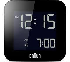 Braun <b>Digital Travel</b> Clock with <b>Snooze</b>, Compact Size, Negative ...