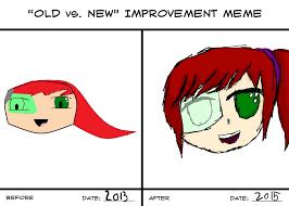 Old Vs New Improvement Meme by midnightmoonstone111 on DeviantArt via Relatably.com