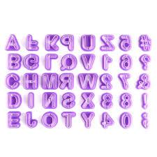 Cusimax 40PCS <b>Alphabets 26 English Letters</b> Plastic <b>Cookie</b> Mold ...