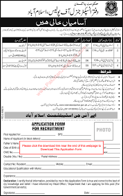 islamabad police jobs application form islamabad police jobs 2015 application form assistants clerks stenotypist latest