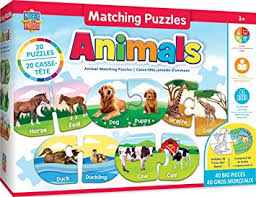 MasterPieces 11811 Educational Animals <b>Matching Puzzles</b>