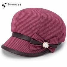 <b>Fibonacci High Quality</b> Berets Retro Plaid Women Pure Cotton 8 ...