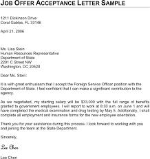 free job offer acceptance letter sample   pdf    page s job offer acceptance letter sample