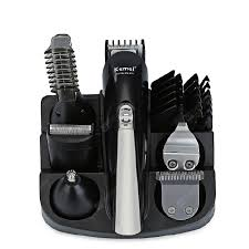 kemei rechargeable hair trimmer electric clipper shaver men shaving machine replacement titanium blade