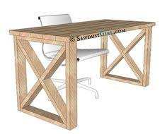 x leg desk plans and tutorial free and easy plans from https bathroomcute diy office homemade desk plans furniture