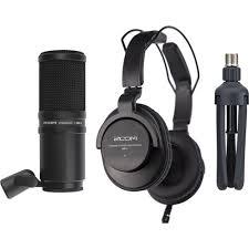Zoom <b>ZDM</b>-1 Podcast Mic Pack with Headphones, Windscreen, XLR ...