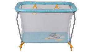 <b>Манеж Polini kids Disney</b> baby Classic, Микки маус, голубой <b>Polini</b> ...
