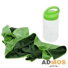 <b>Охлаждающее полотенце Weddell</b>, зеленое оптом под ...