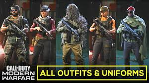 All Operator Outfits and Uniforms (ALL CUSTOMIZATIONS) + DLCs ...