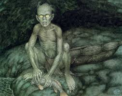 Image result for images of gollum from the first edition of the hobbit