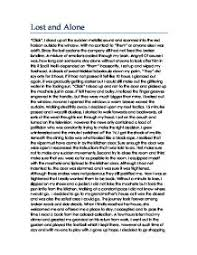 examples descriptive essay lost and alone descriptive writing   gcse english   marked by  page  a good example of descriptive essay