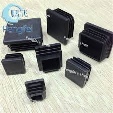 free shipping 50pcs 40mm40mm square plastic foot with black and white color length 40mm black steel pipe furniture