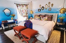 bedside cabinets mirror antique design blue red colors bedroom furniture bedside cabinets mirror antique