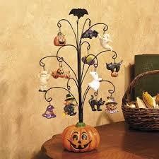 <b>Halloween Pumpkin Tree</b> with Ornaments - Decorative Accessories ...